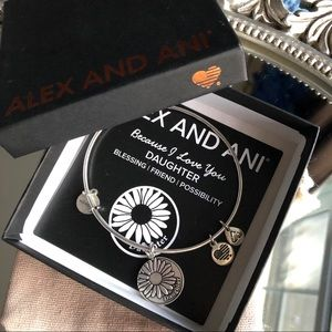 Alex and Ani Antique Silver Daughter Bracelet-OS
